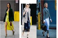三款时髦女性小西装搭配,英伦和帅气风格混搭时尚有范