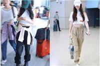 女生短上衣的时尚搭配,杨幂、杨颖的马甲线身材都穿它