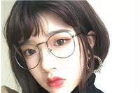 戴眼镜的女生适合上什么样的短发,流行发型图片大全